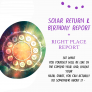 Solar Return Astrology Report | The Birthday Yearly Astrological Report Plus A Right Place Report